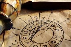 11279843 horoscope antique dessin la main avec des signes du zodiaque 1