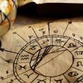 11279843 horoscope antique dessin la main avec des signes du zodiaque